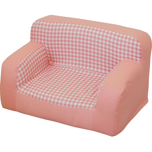 レビューを書けば送料当店負担 物品 子ども用キッズソファ ピコ ピンク