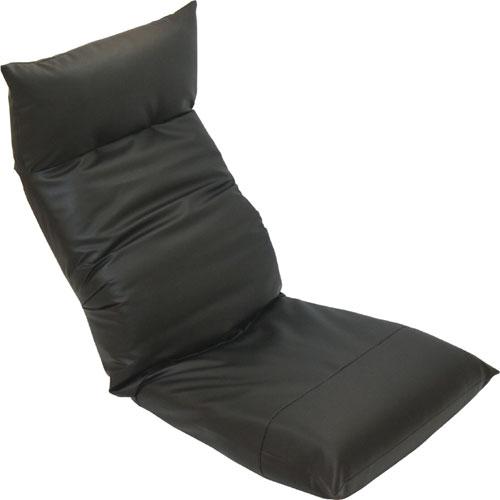 リクライニング座椅子 スワロッサー 合皮レザー ブラック