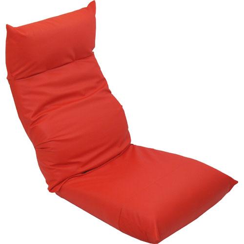 リクライニング座椅子 スワロッサー 合皮レザー レッド