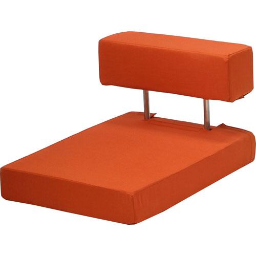 長時間快適に座れる硬め座椅子 ざらく 柿色
