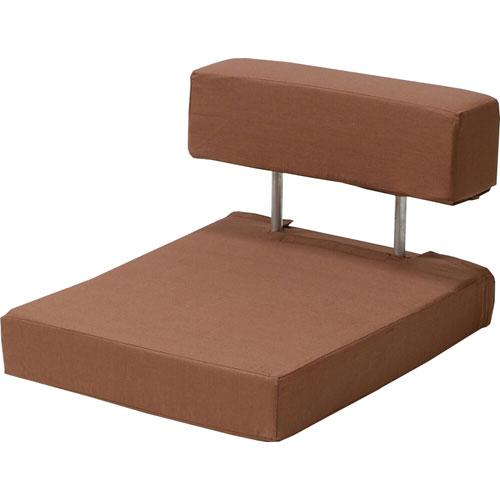 長時間快適に座れる硬め座椅子 ざらく 栗色