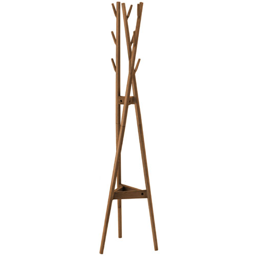 木製ポールハンガー オーク ブラウン oak8522