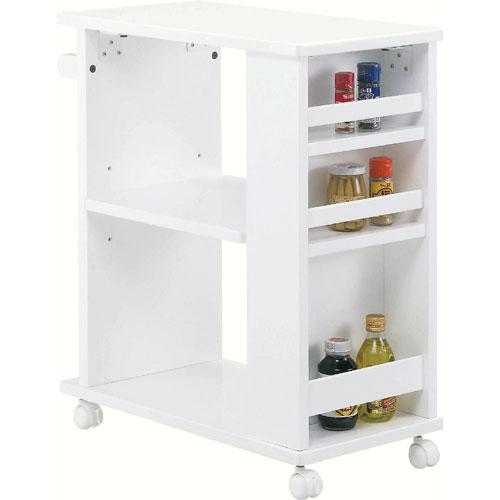 キッチンワゴン ポケット付 ホワイト pktw8320-wh