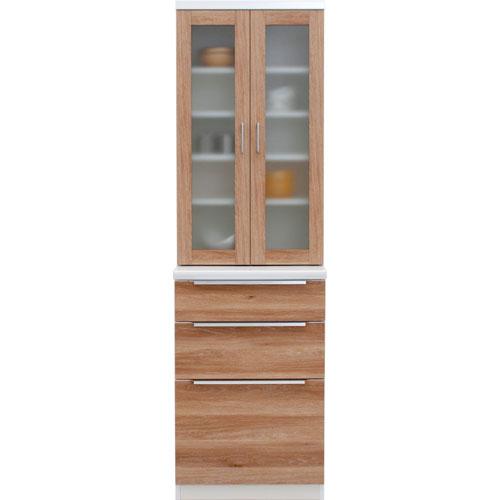 食器棚 コロン 幅61cm高さ200cm ナチュラル cn-060db-na