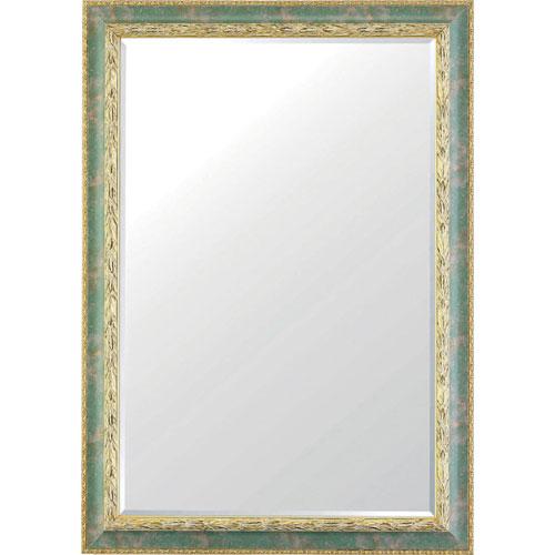 ウォールミラー(鏡) 幅73cm ラグジュアリー グリーン hly-630-gr