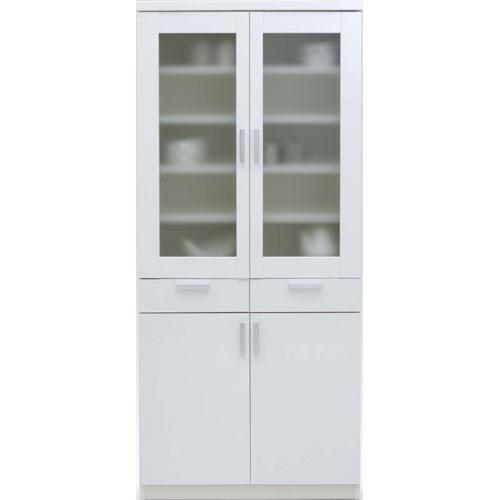 食器棚 ホワイト 食器棚 ルーナ 幅81cm高さ180cm ホワイト ルーナ ln-80d-wh, 一味真 鮨 「志女竹」:e8248014 --- officewill.xsrv.jp
