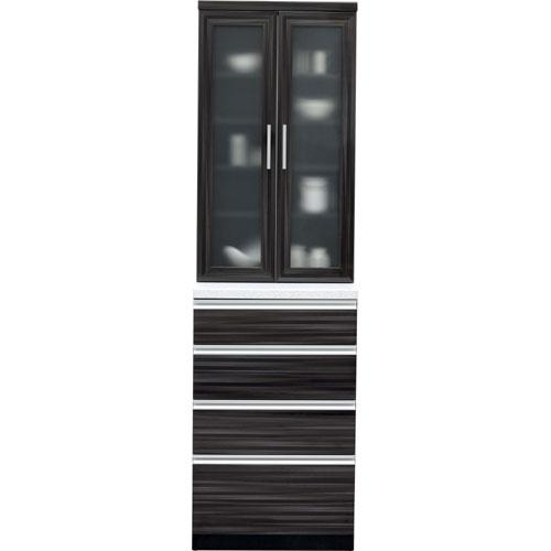 食器棚 マーシュ 幅61cm高さ205cm ブラック mrs-b060-bk
