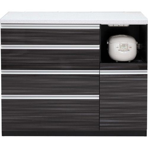 キッチンカウンター マーシュ 幅121cm高さ98cm ブラック mrs-c120-bk