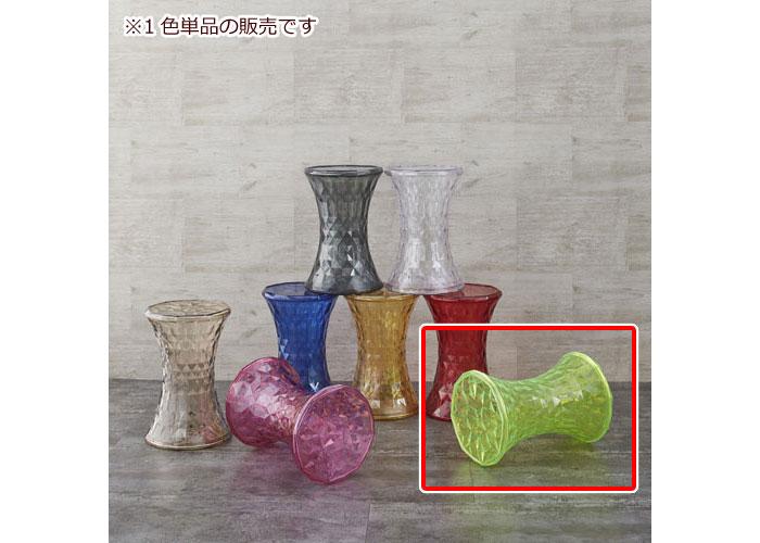 透明クリスタル風サイドテーブル スケルトン グリーン ミニテーブル カフェテーブル サイドテーブル 円卓 丸型 円形 ソファサイド リビング 机 台 透明