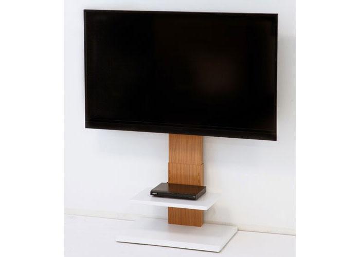 ロータイプ壁よせテレビスタンド ナチュラル 壁寄せ 壁寄せテレビ台 壁寄せテレビスタンド TVスタンド テレビ置き テレビ掛け テレビラック スリム 省スペース