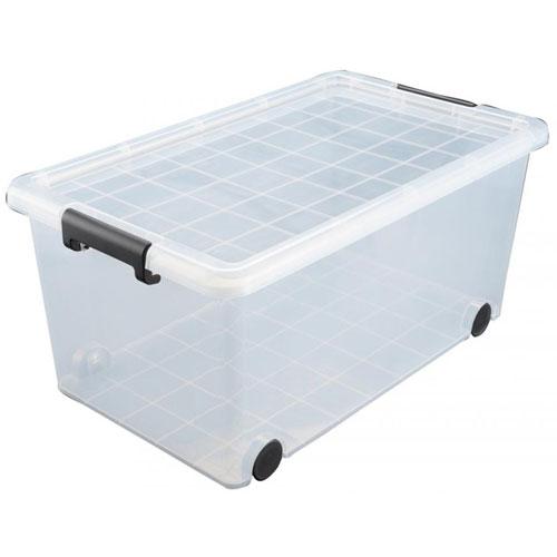 クリア 子供服 衣類収納ボックス 衣装ケース 送料無料 大容量 キャリングボックス44 6個組 収納ケース プラスチック 収納 キャスター付き 衣類 JEJ121019 ボックス 衣装ケース フタ付き JEJ 収納ボックス