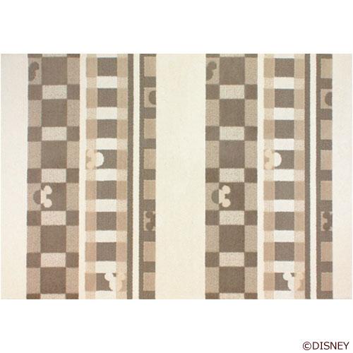 ディズニー Standard Collection ミッキー MICKEY/Texture line テクスチャーライン ラグ 140×200cm アイボリー DRM-1012-I<133-30560>