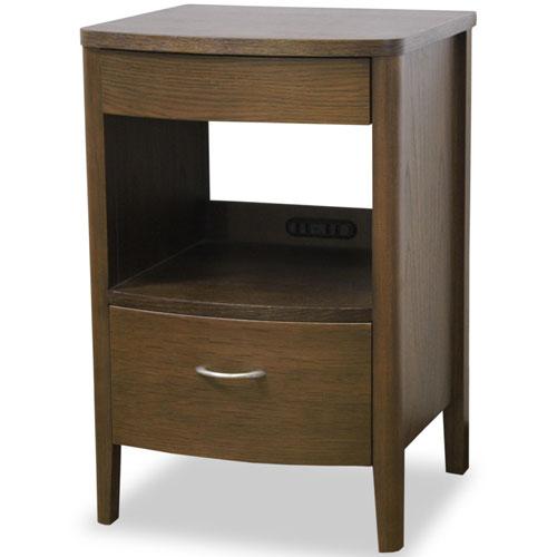完成品 ナイトテーブル オープンチェスト ウォールナット コンセント付き サイドテーブル 木製 引出し 引き出し ベッド サイドテーブル サイドテーブル テーブル サイドチェスト