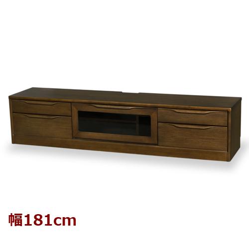 送料無料 木製テレビ台 ボルグ 幅181cm ウォールナット 783772