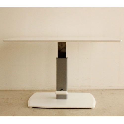 送料無料 クアトロ ダイニング昇降テーブル WH ★ 昇降式ダイニングテーブル クアトロ 幅120cm ホワイト r-tm-54031020