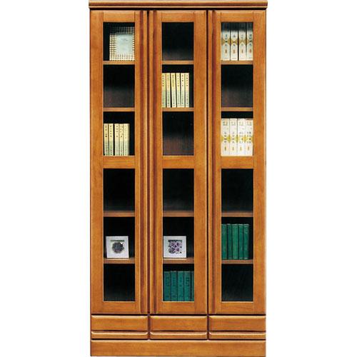 ガラス戸本棚 ジェロ ジェロ 幅90cm高さ180cm 幅90cm高さ180cm ライトブラウン ライトブラウン, Foot Time Business Style:08853d94 --- officewill.xsrv.jp