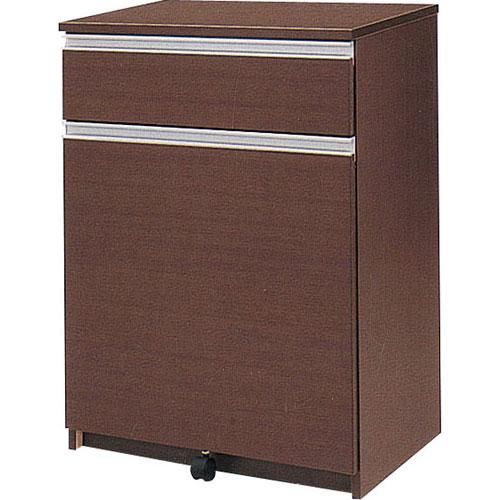 キッチンカウンター アルビナ 幅65cm高さ88cm ごみ箱内蔵 ブラウン