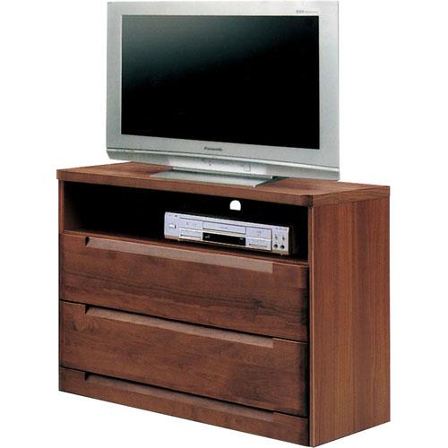 ハイタイプテレビ台 スカーレット 幅80cm高さ75cm ダークブラウン