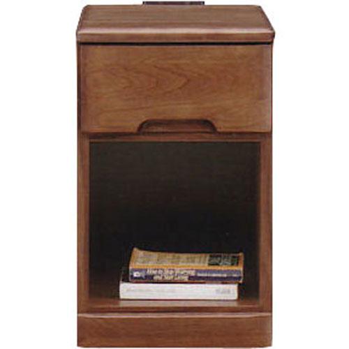 ナイトテーブルチェスト スカーレット 幅30cm高さ48cm 1段 ダークブラウン