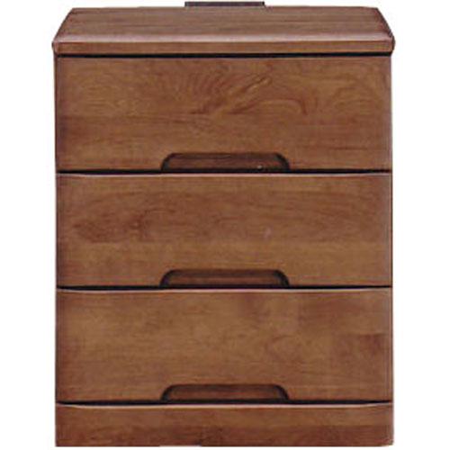 ナイトテーブルチェスト スカーレット 幅40cm高さ48cm 3段 ダークブラウン