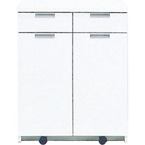 キッチンカウンター エンジョイ 幅68cm高さ85cm ごみ箱内蔵 ホワイト