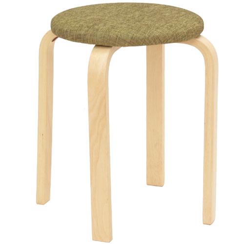 パセリスツール 5脚セット グリーン スツール 背もたれなし 木製 椅子 チェア イス ナチュラル シンプル 丸椅子 いす 積み重ね チェアー スタッキング 木製チェアー 玄関 腰掛イス ファブリック 布地