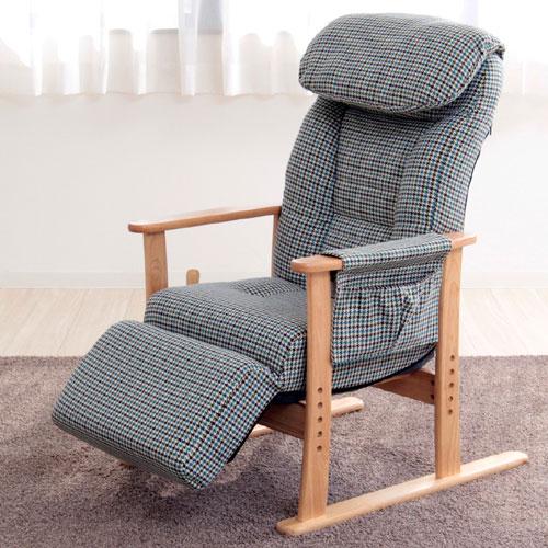 フットレスト付高座椅子 梢 (こずえ) リクライニング高座椅子 リクライニングチェア 椅子 チェア 高さ調節 座椅子 座いす 座イス 肘付き 肘掛け 高座いす リラックスチェア 高座椅子 肘掛け付き 肘付き 一人掛け 一人用 フットレスト付きリクライニング高座椅子