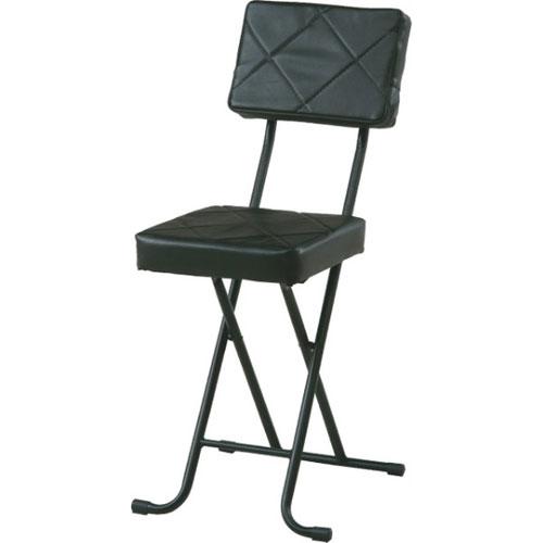 折りたたみ椅子 キルト ブラック 4個組 88531