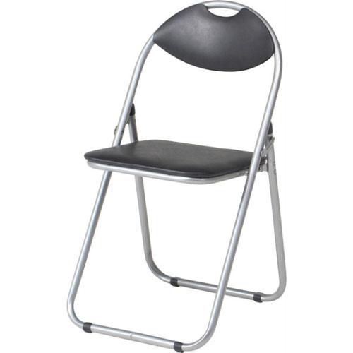 折りたたみパイプ椅子 ブラック 6個組 88626