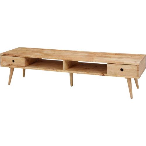 木製 テレビボード 幅150 Natural Signature テレビ台 ローボード 薄型 テレビラック tvボード tv台 木製 天然木 ナチュラル カントリー 北欧調 引き出し
