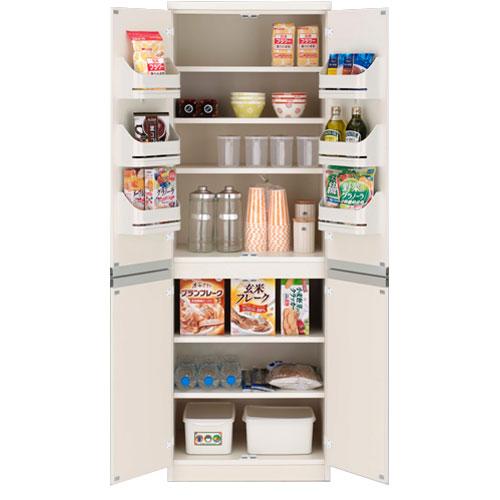 送料無料 キッチンストッカー棚 ホワイト fsw-605