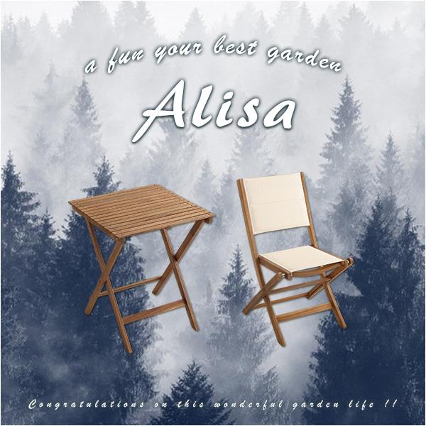 送料無料 ガーデンテーブルセット 木製 折りたたみ ガーデンテーブル チェア 3点セット アカシア材 Alisa アリーザ コンパクト 折畳テーブル 折り畳みテーブル 幅60 正方形 折りたたみ式 アウトドア ガーデンセット イス 椅子 いす ガーデンファニチャー sh-01-als3-gr