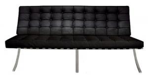 送料無料 バルセロナチェア 3P デザイナーズ リプロダクト バルセロナチェアー ミース ファン デル ローエ デザイナーズ ソファ 3人掛け 三人掛け レザー イタリア製トップスキンレザー barcelona chair 椅子 イス チェア チェアー デザイン デザインチェア インテリア
