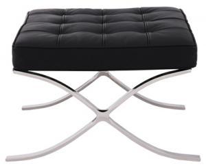 送料無料 バルセロナ オットマン デザイナーズ 1人掛け 一人掛け リプロダクト バルセロナチェアー ミース ファン デル ローエ レザー イタリア製トップスキンレザー barcelona chair 椅子 イス チェア チェアー デザイン デザインチェア インテリア 040108851