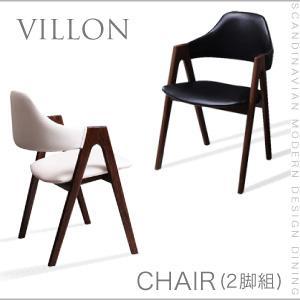送料無料 北欧モダンデザインダイニング【VILLON】ヴィヨン/チェア(2脚組) 040600240