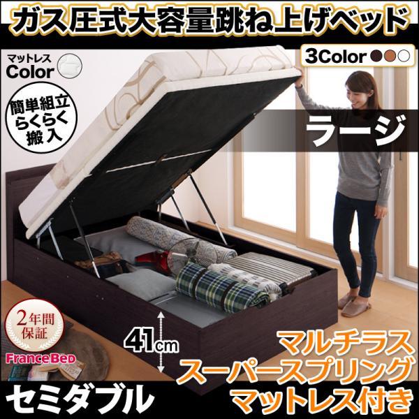 送料無料 跳ね上げ式 跳ね上げ ベッド セミダブル 跳ね上げ式 収納ベッド 簡単組み立て 棚付き コンセント付き Free-Gate 大容量収納 フリーゲート マルチラススーパースプリング付き 縦開き セミダブルベッド 深さラージ べット 収納付きベッド 宮棚付き 大容量収納 簡単組み立て 一人暮らし, アシカガシ:b13a3cae --- yogabeach.store