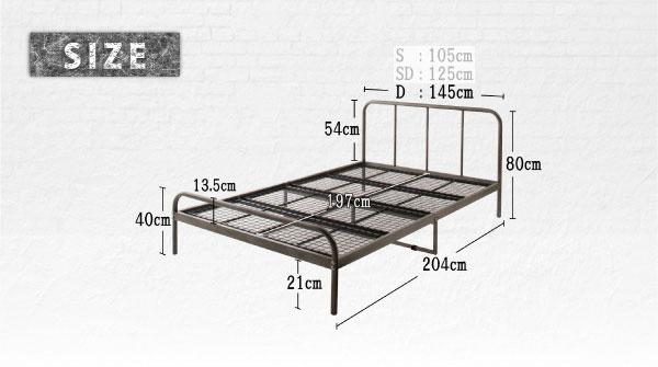 デザインスチールベッド Tiberia2 ティベリア2 スタンダードボンネルコイルマットレス付き ダブル シルバーアッシュ(ホワイト/ブラック) 500044193