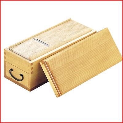 業務用カツ箱 木製 王座 24×11×高さ9.5cm 鰹節削り
