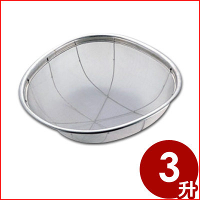 弁慶 ステンレス亀ザル 3升(5.4L) 米あげざる メーカー取寄品