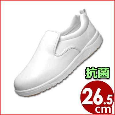アサヒコック101(耐油性) 白 26.5cm かかと付きシューズ 厨房用・食品工場用