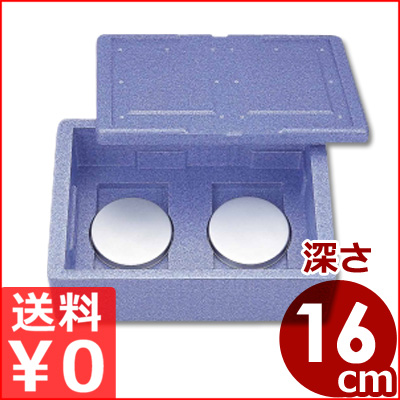 コンテナBOX Hot&CooL RH-300型 66×46×26cm 発泡材コンテナ/デリバリー用保温・保冷運搬ボックス 通い箱 メーカー取寄品