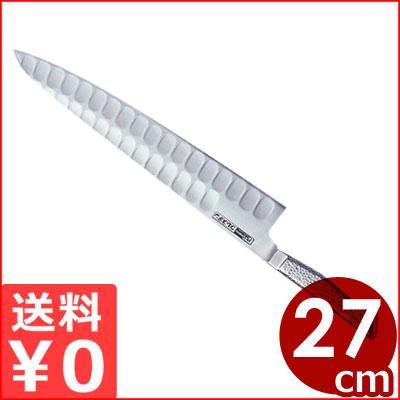 グレステン包丁 Tシリーズ 牛刀 27cm 727TM/国産ステンレス包丁 溝つき包丁 メーカー取寄品