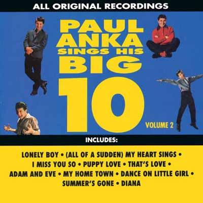 USED 送料無料 Sings His Big Ten Paul 2 祝日 CD 正規逆輸入品 Anka Audio