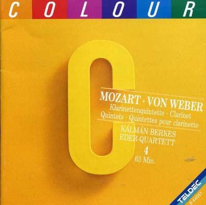 USED【送料無料】Mozart & Von Weber: Clarinet Quintets - Kalman Berkes, Eder-Quartett, Dieter Klocker [Audio CD]