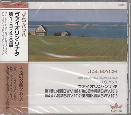 USED【送料無料】J.S.バッハ/ヴァイオリン・ソナタ第1番ロ短調BWV1014、第3番ホ長調BWV1016、第4番ハ短調BWV1017、第6番ト長調BWV1019 ANC136 [Audio CD] J.S.バッハ; ラインホルト・バルヒエット(ヴァイオリン) and ロベール・ヴェイロン=ラクロワ(チエンバロ)