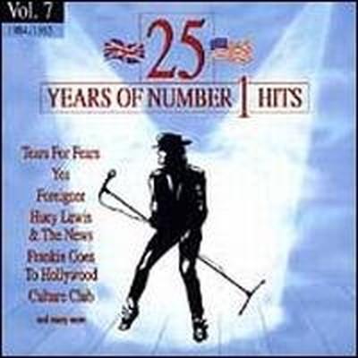 送料無料 中古 25 Years of Number 1 Artists 通販 激安セール Audio 7 Various CD Hits