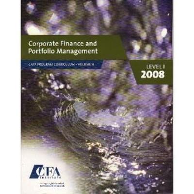 送料無料 中古 Corporate Finance 公式ストア and Portfolio Management 4 vol. CFA 2008 1 推奨 Level