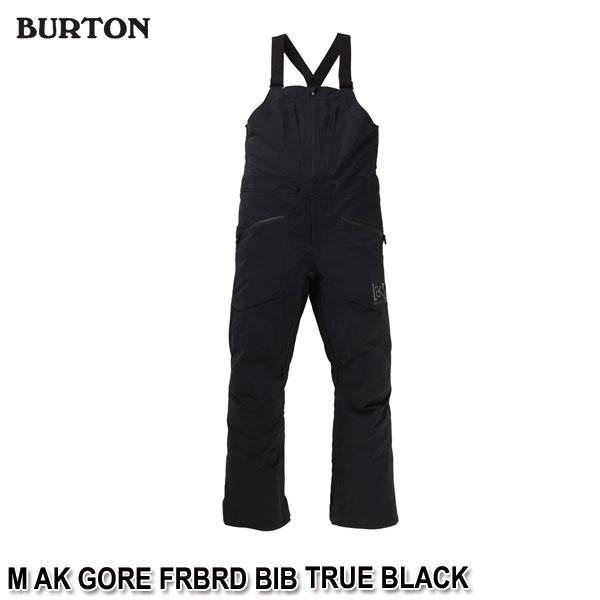 特典付 19-20 バートン エーケー ビブパン BURTON M AK GORE FRBRD BIB TRUE BLACK メンズ 男性用 スノーウェア ビブパンツ ゴアテックス 2020 日本正規品 予約
