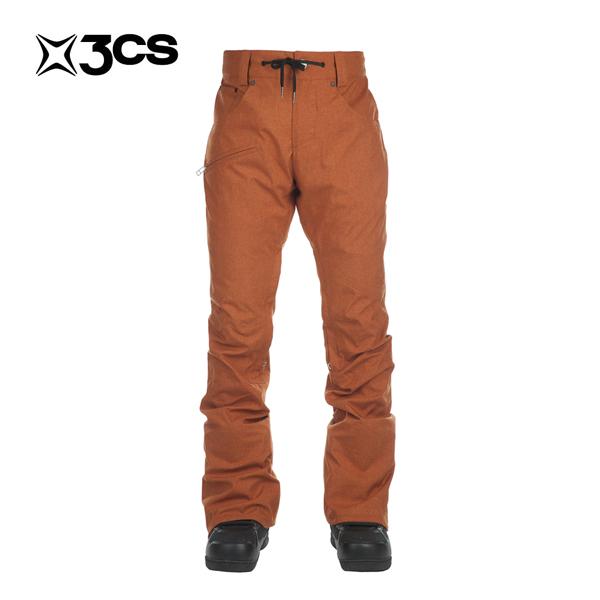 16 スリーシーエス クラッシュ パンツ 3CS Clash Pant カラーBurnt Orange スノーボード スノボ スキー メンズ ウェア ウエア パンツ 日本正規品 2016