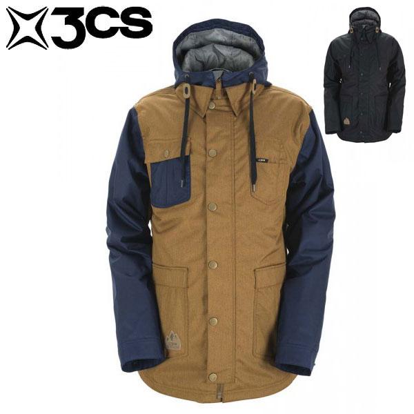 17-18 スリーシーエス ボルチモア メンズジャケット 3CS Baltimore Mens Jacket Dearborne/Black スノーウェア スキー スノーボード 男性用